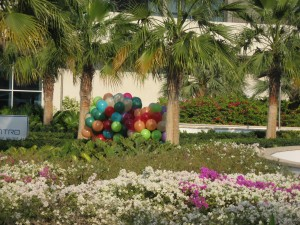 Laufende Luftballons