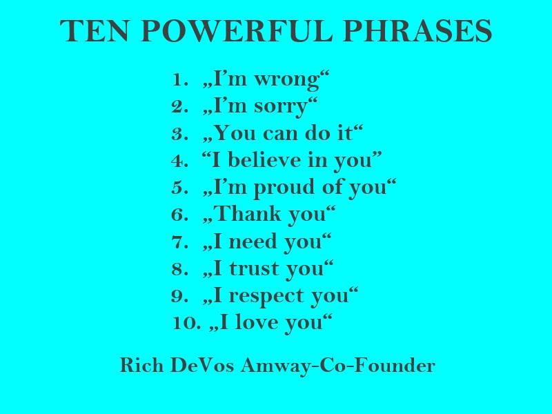 TEN POWERFUL PHRASES