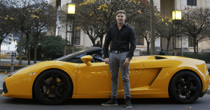 Kris Stelljes mit Lamborghini Gallardo